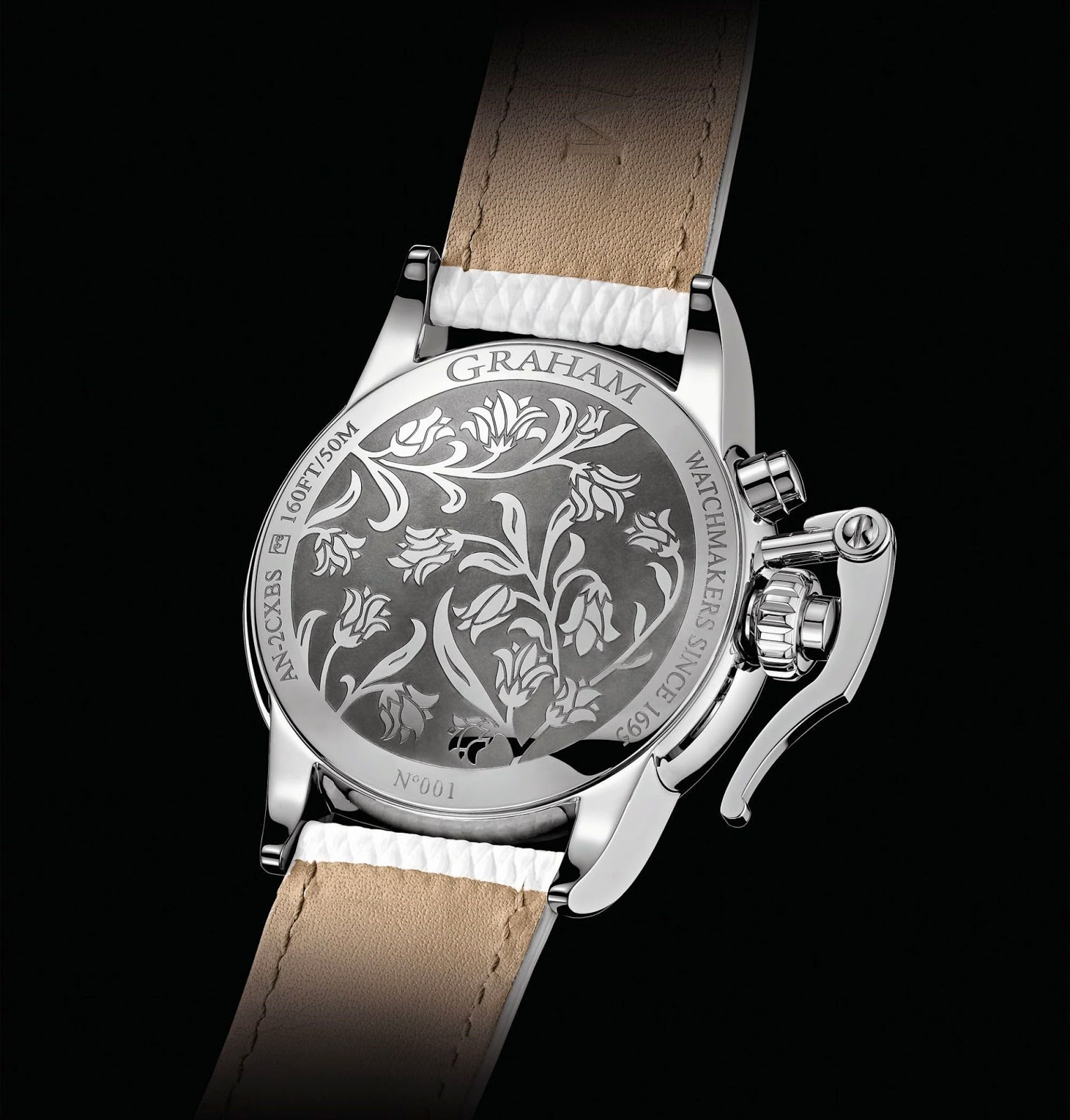 GRAHAM Chronofighter 1695 Lady Moon watch case back