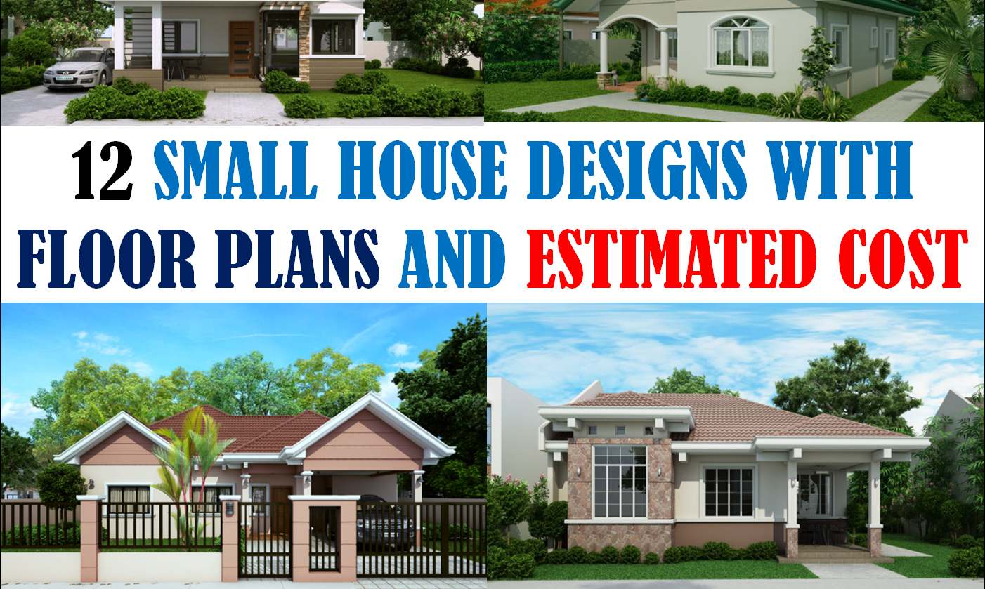 40 small house images designs with free floor plans lay for Small two floor house