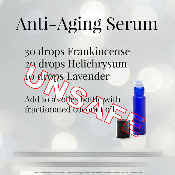 essential oil dilution for topical application to face