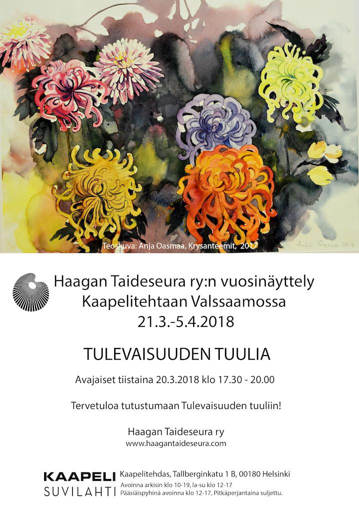 Haagan Taideseura ry:n vuosinäyttely 2018