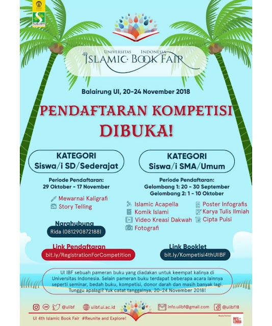 Contest Islamic Book Fair 2018 UI