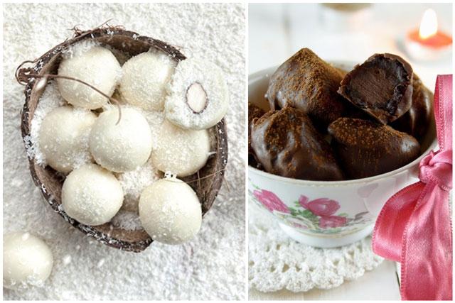 Rafaelo kuglice i punjene suve šljive sa čokoladnim prelivom