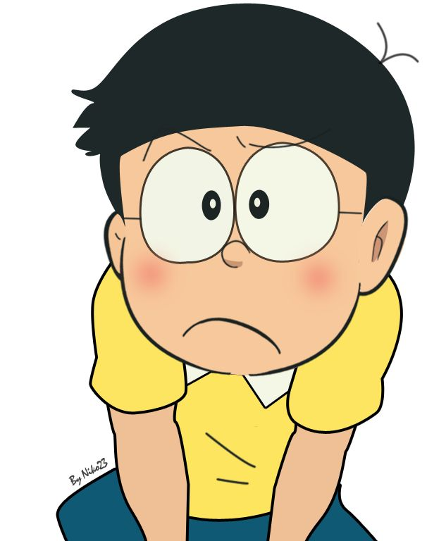 Sad and frustrated and Alone and lonely nobita