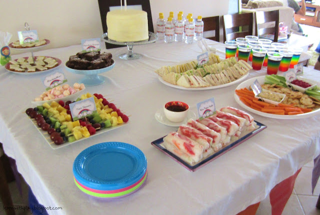 rainbow party food ideas, rainbow party ideas