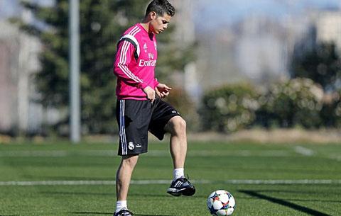 Rodriguez trở lại tập luyện, HLV Ancelotti có thêm nhiều lựa chọn trong thời gian tới
