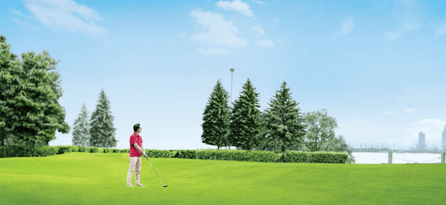 Sân golf mini tại căn hộ Đảo Kim Cương