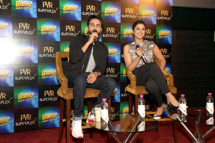 Parineeti and Ayushman Khuranna at Press Meet to Promote Meri Pyari Bindu
