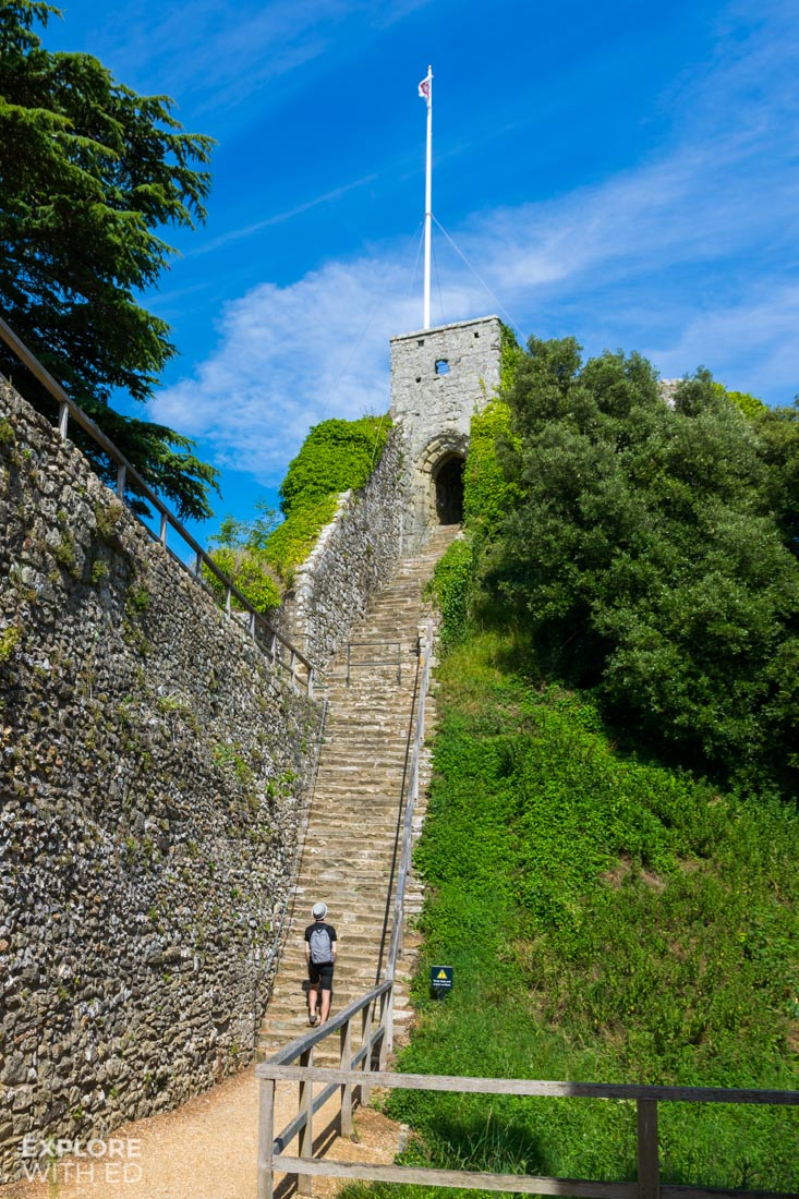 The Norman Keep at Carisbrooke Castle