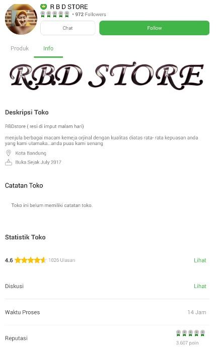Profile Toko Baju Muslim R B D Store di Tokopedia.