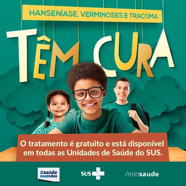 Secretaria de Saúde de Marcelino Vieira promove campanha sobre Hanseníase, Verminoses e Tracoma
