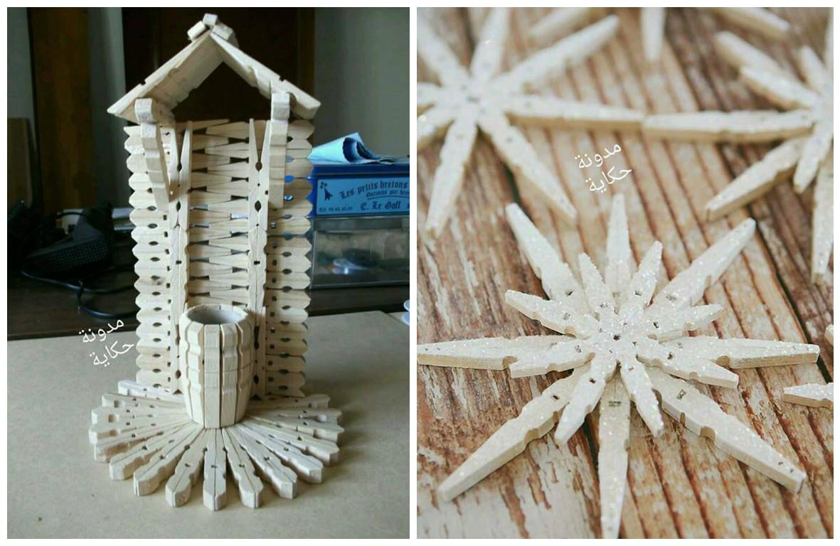 14 ideas de manualidades con ganchos de madera o pinzas de for Ganchos para cortinas de madera