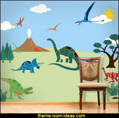 My Wonderful Walls Dinosaur Days Self-Adhesive Wall Stencil Kit