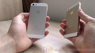 Beda warna bagian belakang iPhone 5G dan 5S