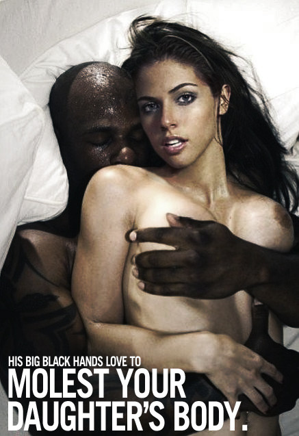 black hands love - You know you'd love to watch your daughter getting molested like this. Her  tits are huge, and yet his big black hands more than cover them.