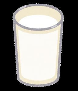 ココナッツミルクのイラスト(グラスのみ)