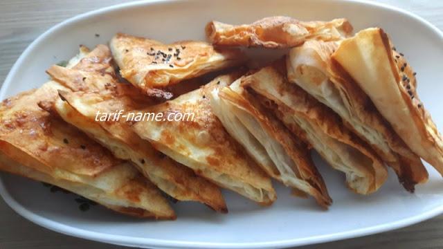 pratik kolay peynirli üçgen çitir börek tarifi