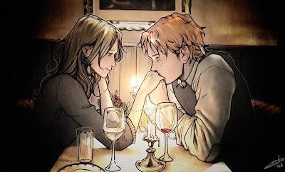 Ilustración y amor pareja de enamorados