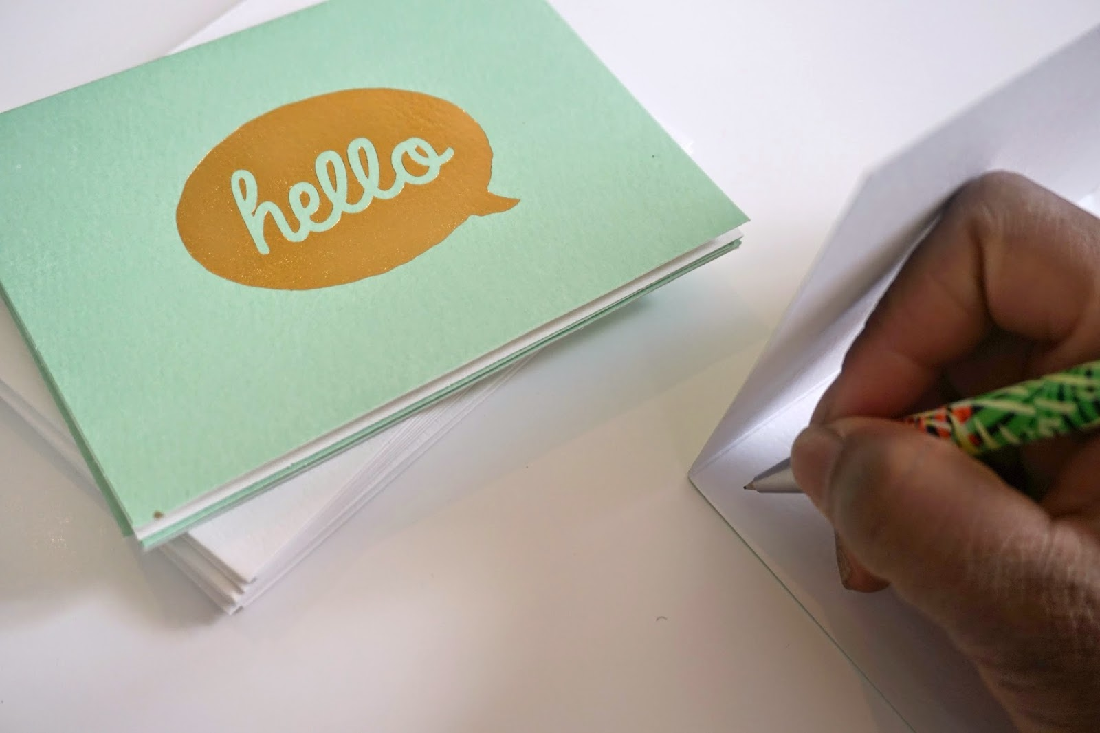 paperchase note cards, thank you card, hello, happiness delivered, paperchase stationery