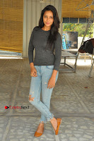 Actress Bhanu Tripathri Pos in Ripped Jeans at Iddari Madhya 18 Movie Pressmeet  0068.JPG