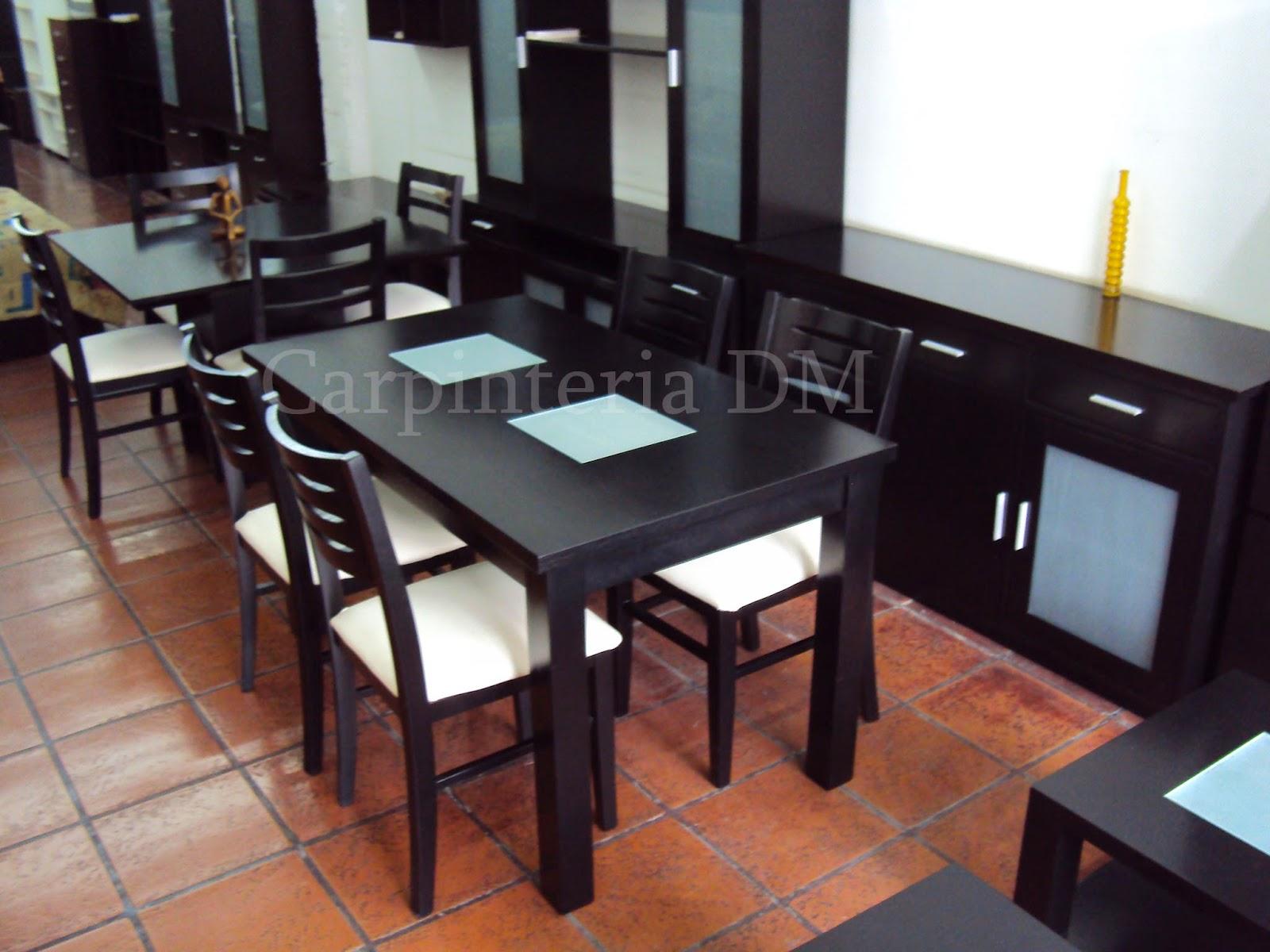 Mesas comedor for Juego de living comedor moderno