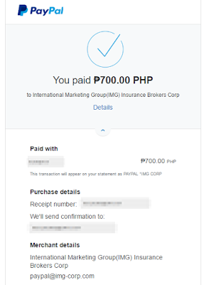 IMG Online Payment Successful