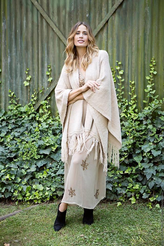 Ponchos invierno 2016 ropa de moda Milana Sweaters tejidos.