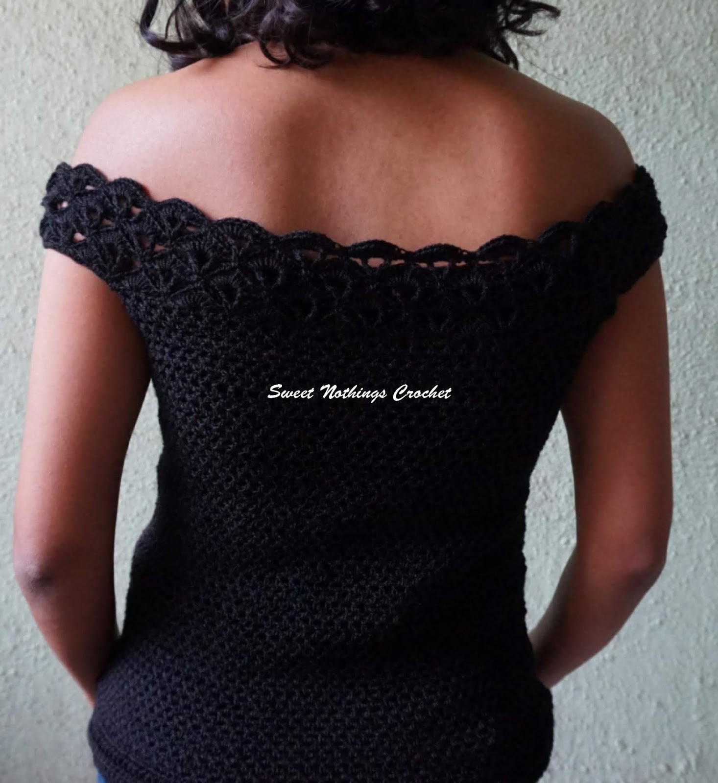Sweet Nothings Crochet Unique Shelled Off The Shoulder Top