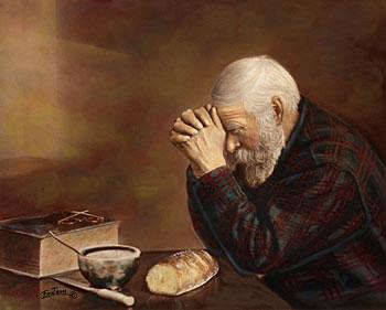 Resultado de imagem para graças a deus - pinturas homem rezando