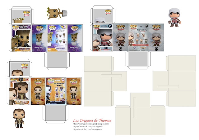 Mini Funko Pop - Papercraft miniature Funko Pop - Template