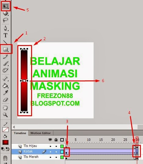 membuat animasi masking adobe flash