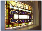 Faux Stained GLASS WINDOW Inserts
