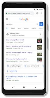 Ein Handy mit einer Google Suchanfrage