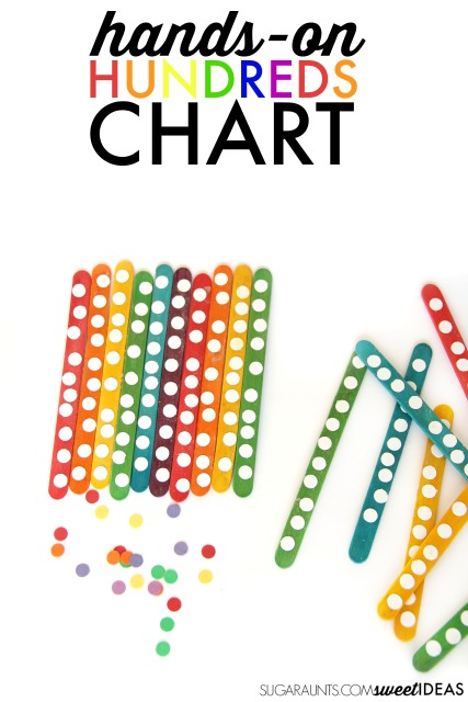 Rainbow Math Popsicle Stick Hundreds Chart | The OT Toolbox