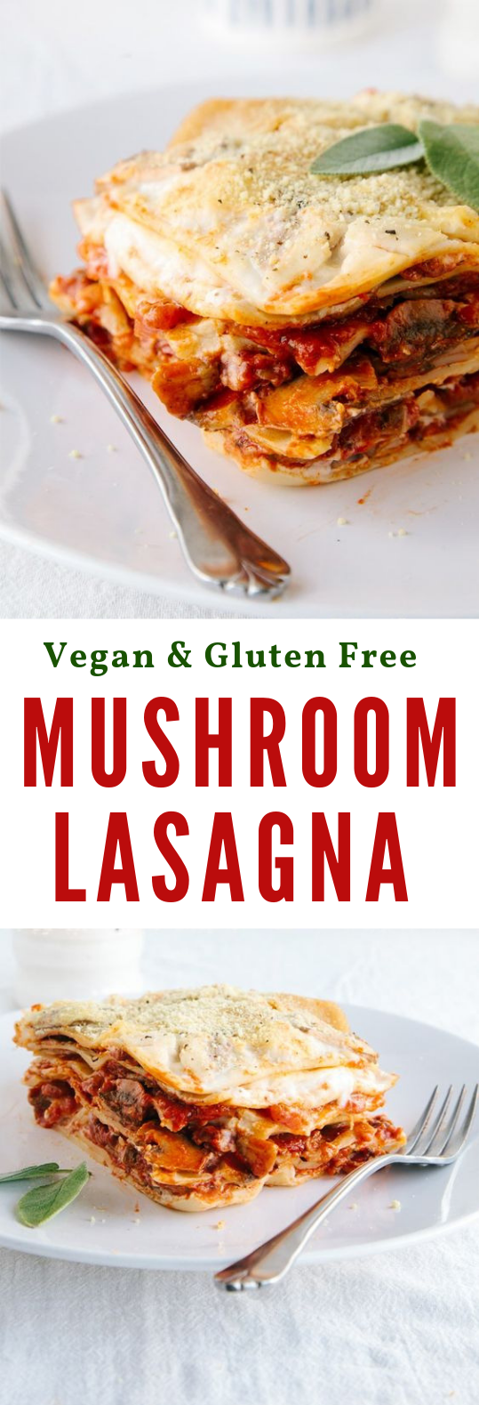 MUSHROOM LASAGNA (VEGAN + GF) #Vegan #Lasagna