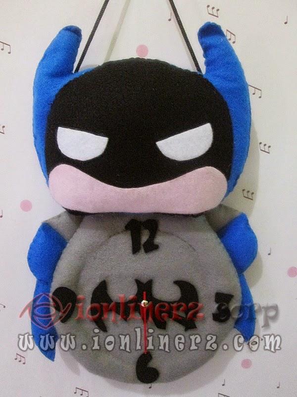 Jam Dinding Flanel Karakter Kartun Boneka Batman