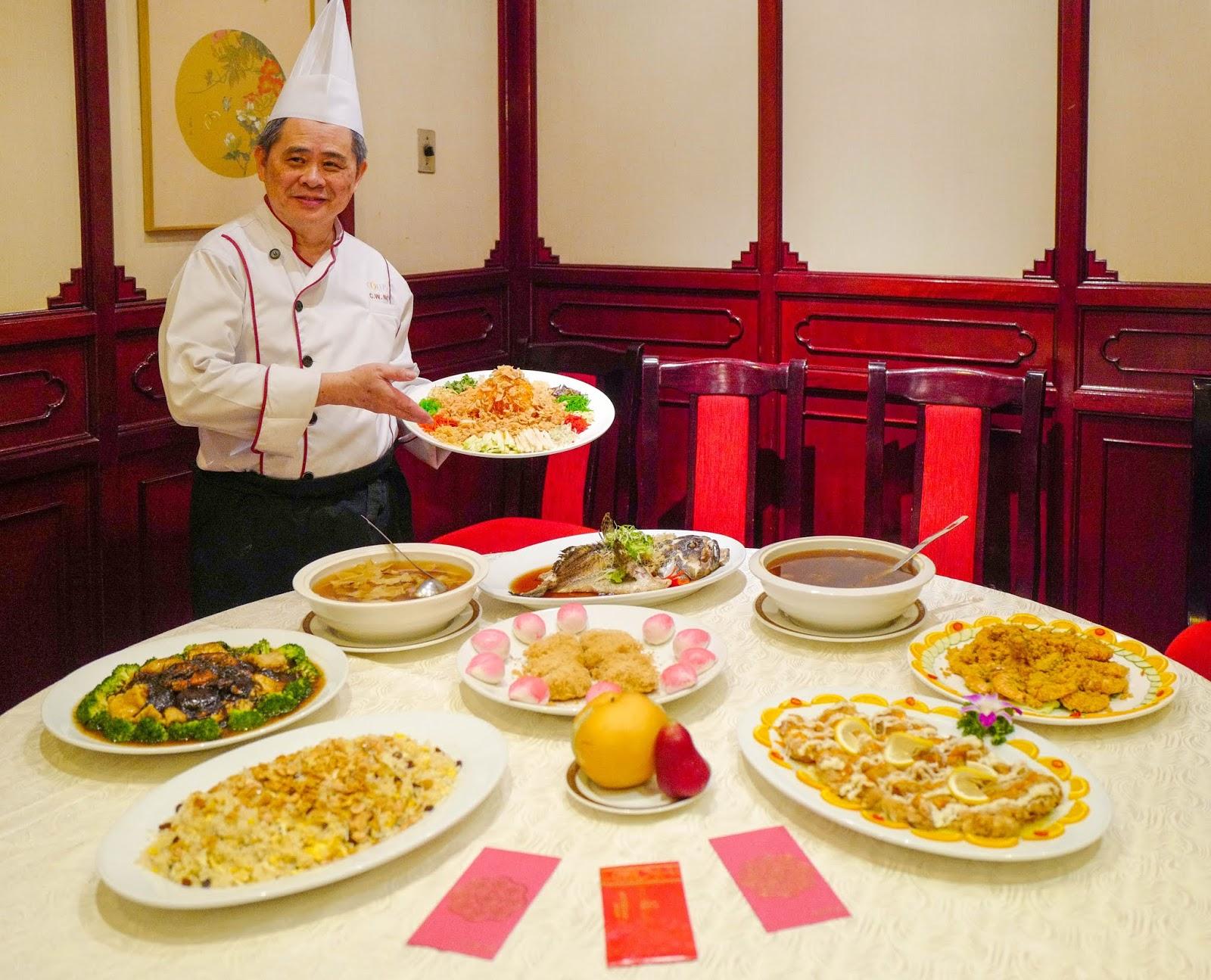 ming palace, corus hotel kuala lumpur: chinese new year menu