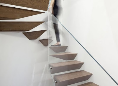 modern staircase ideas floating stairs with glass railing