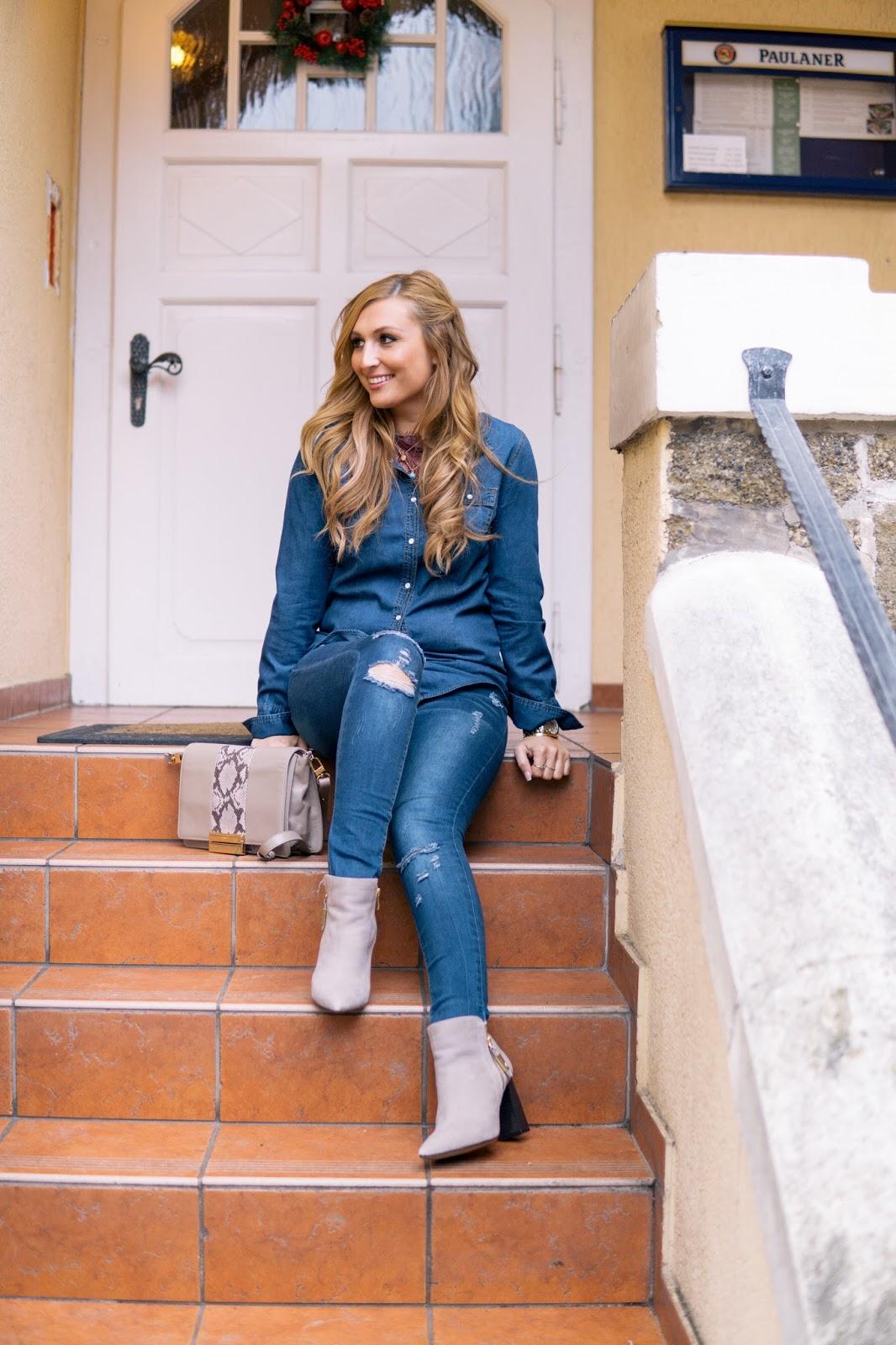 Jeanslook-Jeans-Hemd-Wie-kombiniert-man-ein-jeans-hemd-Komplett-Jeans-Look-Bloggerstyle-Fashionstylebyjohanna