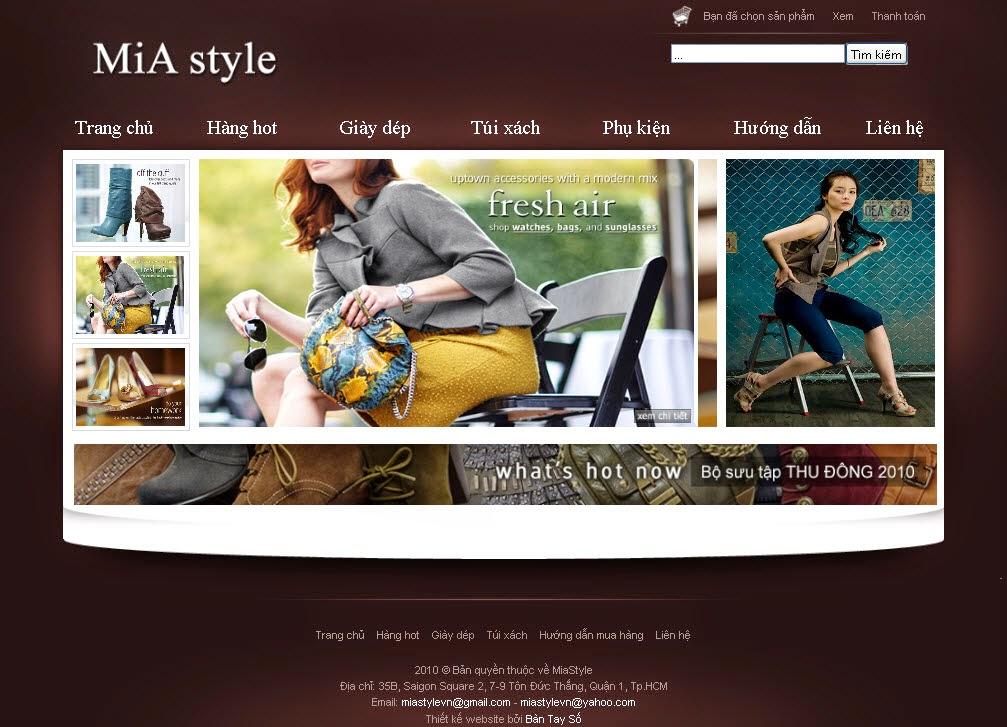 Thiết kế website bán hàng giầy dép giá rẻ