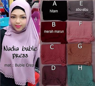 Model Jilbab Terbaru nadia Bubble Press