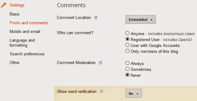 how to disable anonymous comments in blogger blog