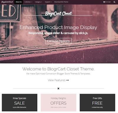 BlogrCart Closet plantilla tienda online blogger gratis bau