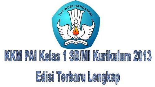 KKM PAI Kelas 1 SD/MI Kurikulum 2013 Edisi Terbaru Lengkap