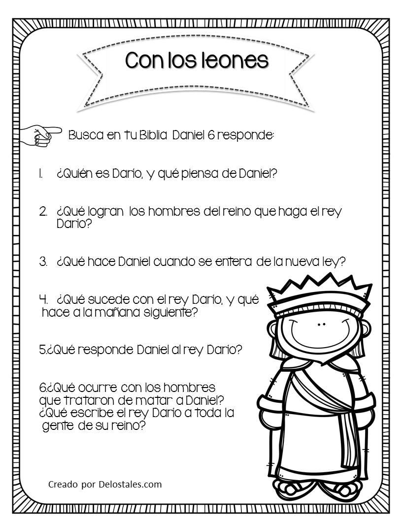 Excepcional Daniel Y Los Leones Den Las Hojas De Trabajo Bandera ...