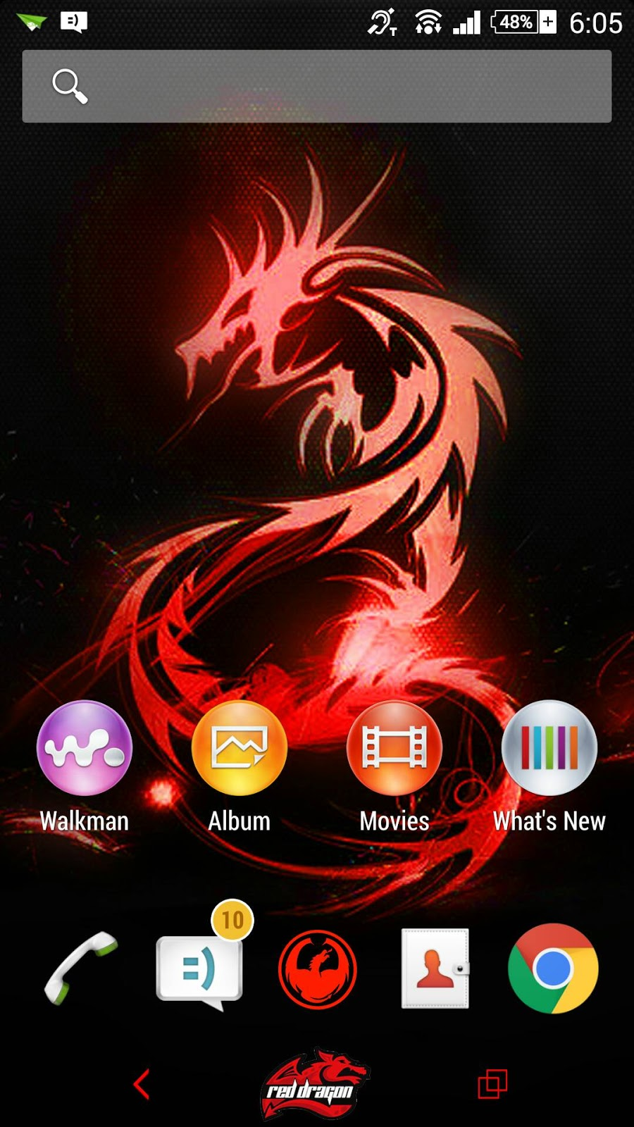 Red Dragon Theme