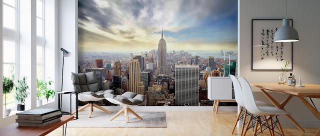Kaupunki tapetti New York Valokuvatapetti maisematapetti skyline manhattan