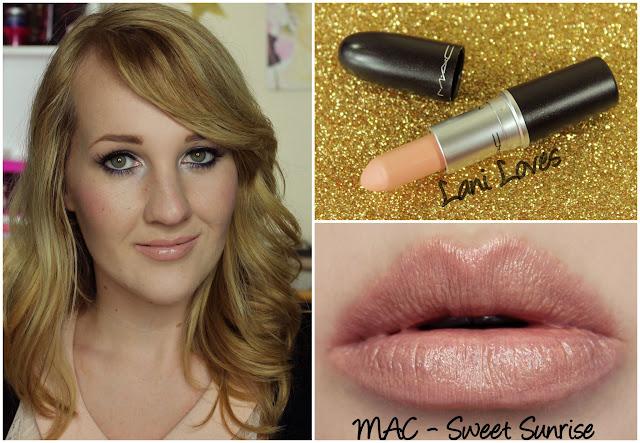 MAC Sweet Sunrise lipstick swatch
