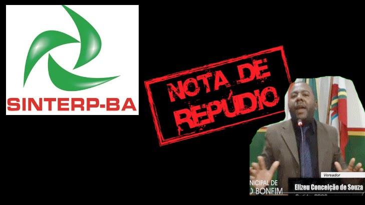 Sindicato dos radialistas da Bahia repudia declarações do vereador de Senhor do Bonfim, Elizeu dos Temperos(PROS)