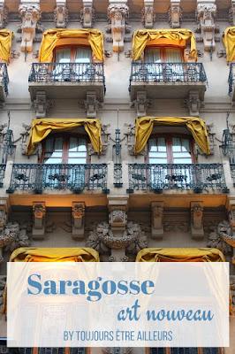 Balade dans Saragosse à la découverte de ses plus beaux monuments modernistes, l'art nouveau espagnol! #modernisme #modernismo #Spain #Zaragoza