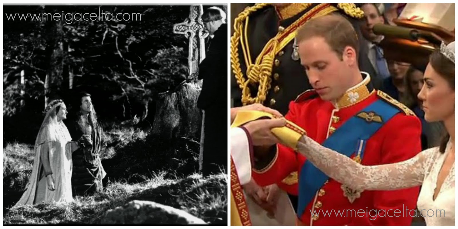 Braveheart Prince William Kate Midleton wedding handfasting unión de manos